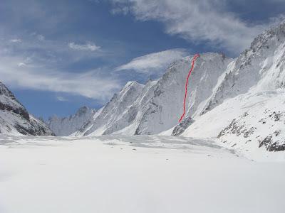 El Glaciar de Argentiere, Les Droites, Les Courtes y Le Triolet.