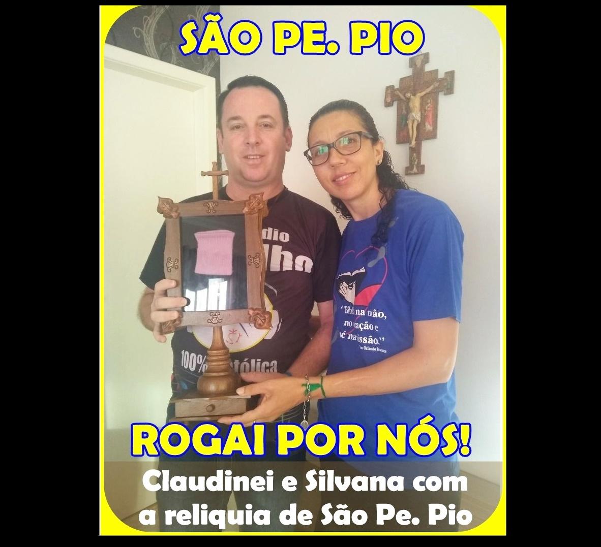 RELIQUIA DE SÃO PADRE PIO VISITOU A NOSSA WEB RÁDIO CASTILHO.