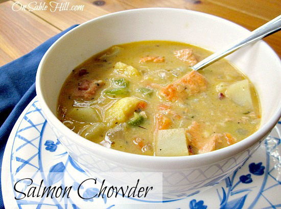 On Sable Hill- Salmon Chowder-Treasure Hunt Thursday-From My Front Porch To Yours