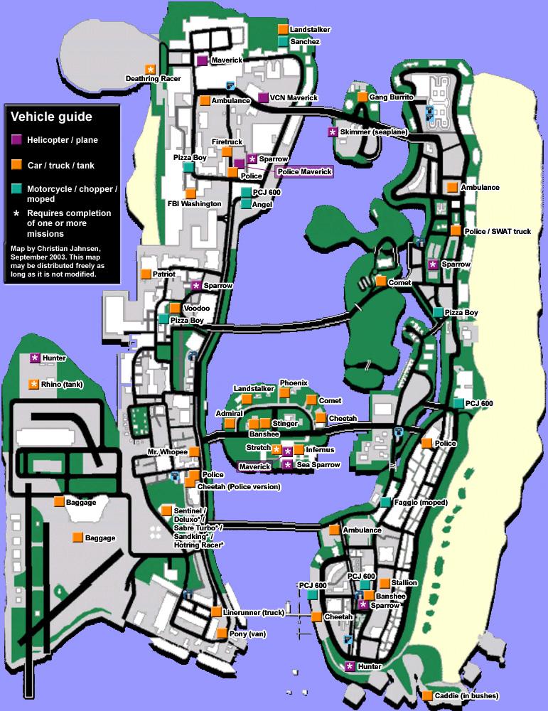 Gta Vice City Pizza Boy Car Location