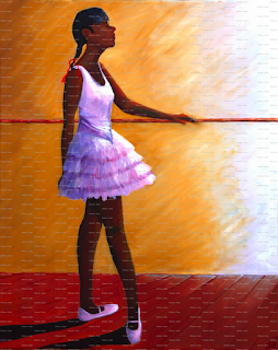 "painting, ""The Young Ballerina"" by Nicole J. Butler ©2012"