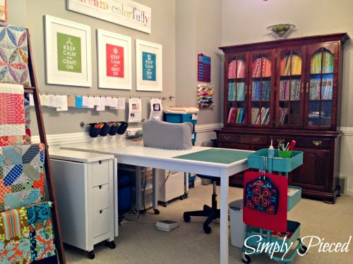 Simply Pieced Sewing Room Makeover Part 2
