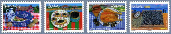 stamps picturing food