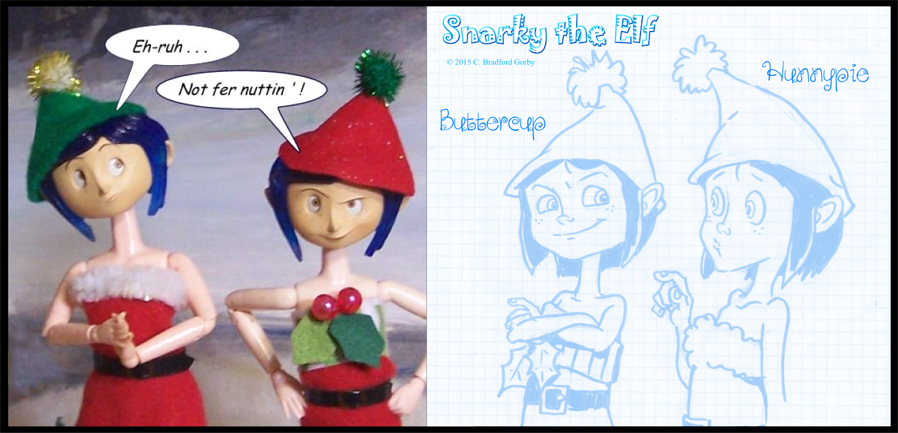 The elf twins have become integral to the story of Snarky the Elf