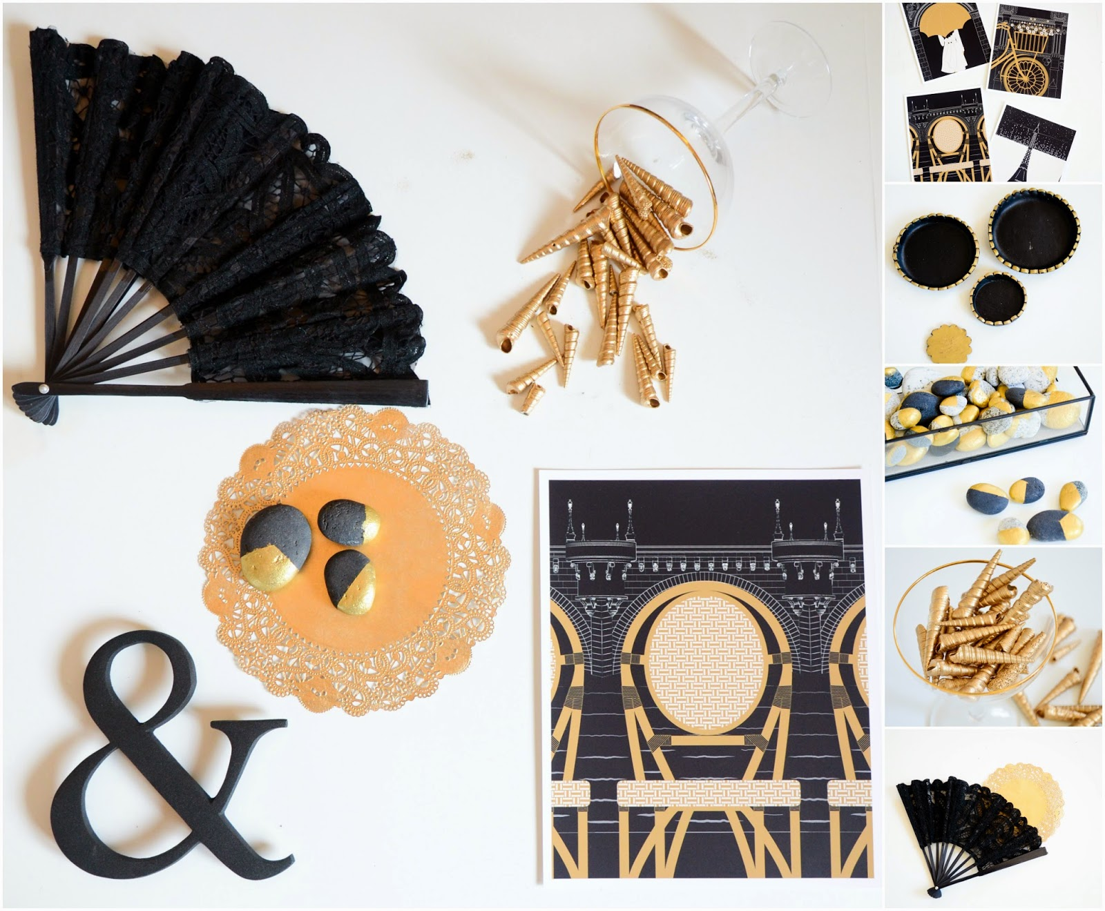 Black and gold home decor inspiration ideas