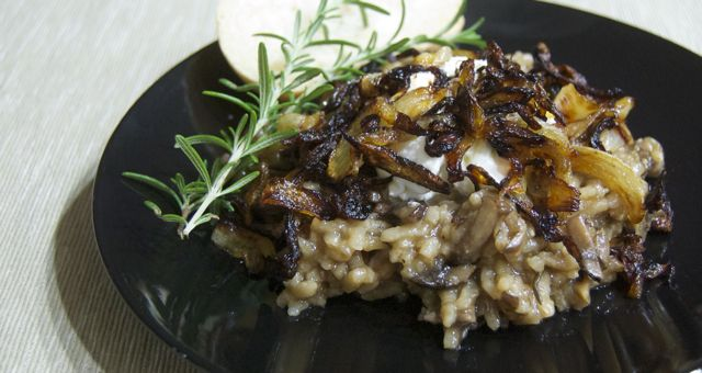 Day 304 - Baked Mushroom Risotto with Caramelized Onions - 365 Days of ...