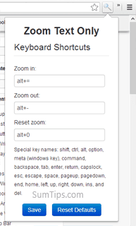 How to Zoom Text Only in Google Chrome