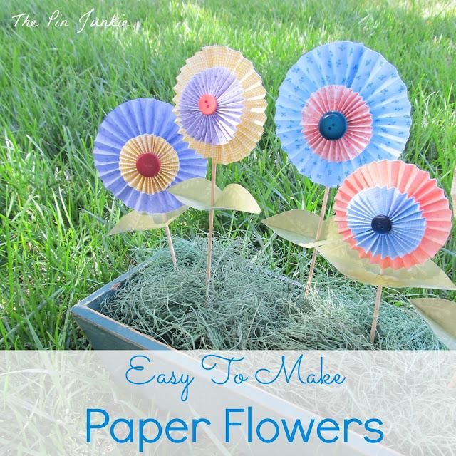 Folded Paper Flowers