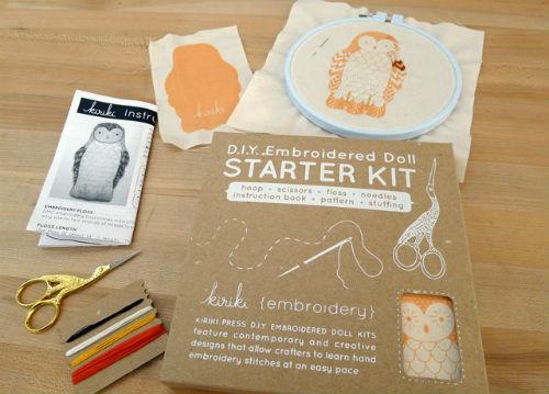 My Owl Barn Kirik Press DIY Embroidered Doll Kit