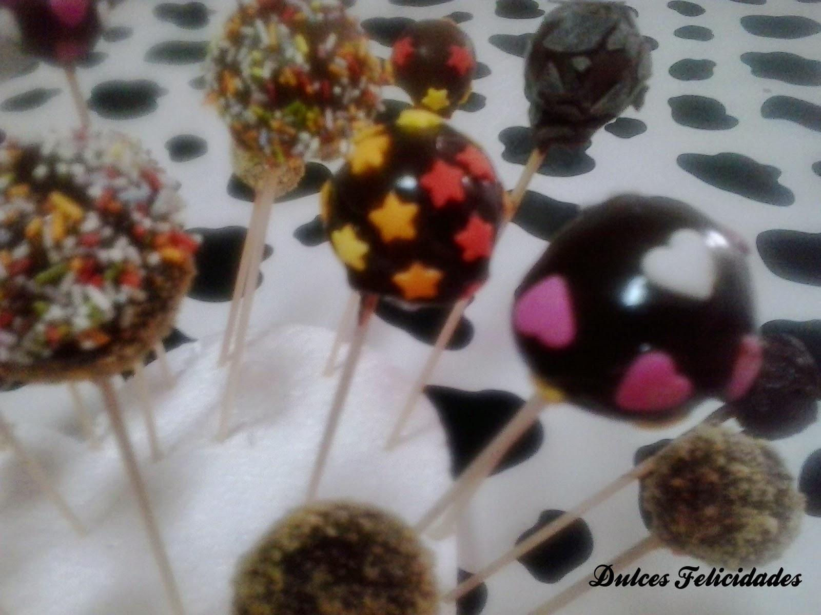Cake pops de magdalenas y nutella