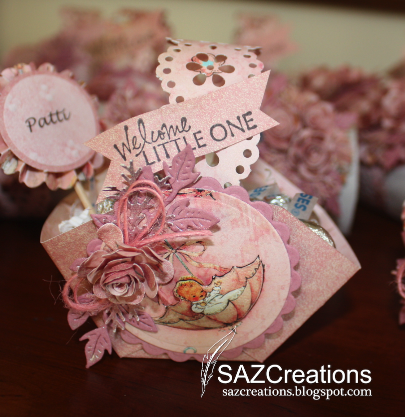 creations by saz baby shower party favors and napkin rings