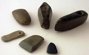 Topoare de piatra de la Brebeni(Olt).Muzeul Judetean Olt