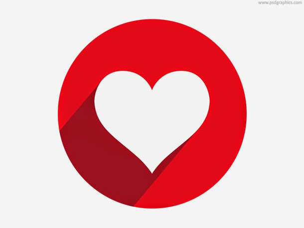 Heart Button and Icon PSD