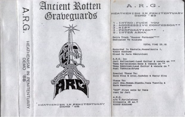 Heretic Memories: A.R.G - Heathenism In Penitentiary - demo 1988