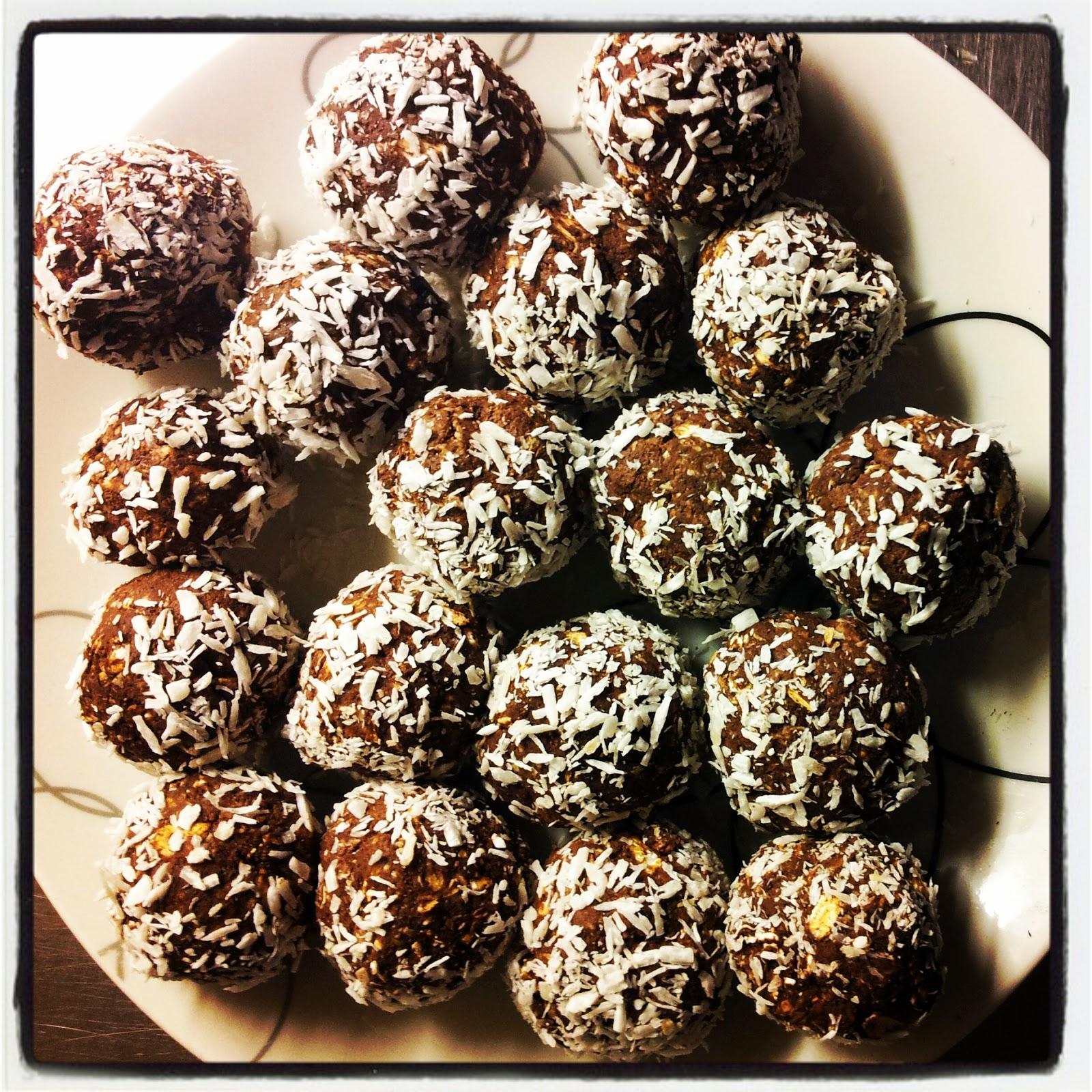 chokladbollar med fiberhavregryn
