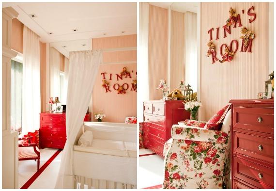 Bebê com Estilo Quarto de bebê vermelho e branco ~ Quarto Rosa E Vermelho