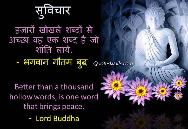 Gautam Buddha Suvichar in Hindi & English