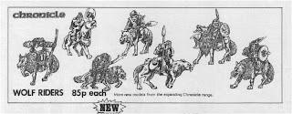 Hoja del catálogo con los Orcos de Chronicle