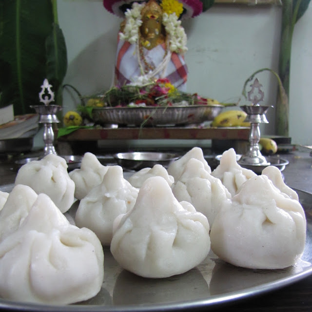 Wishing all my blogger friends a very happy ganesh chaturthi Modaks for Lord Ganesh