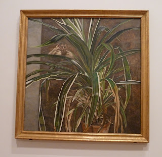 artwork, by, famous painters, Lucian Freud's Interior with plant