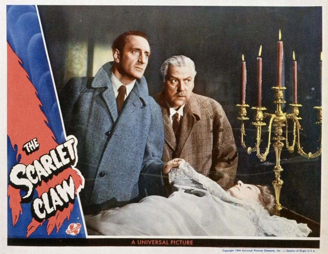 Sherlock Holmes in The Scarlet Claw Vintage Film Poster