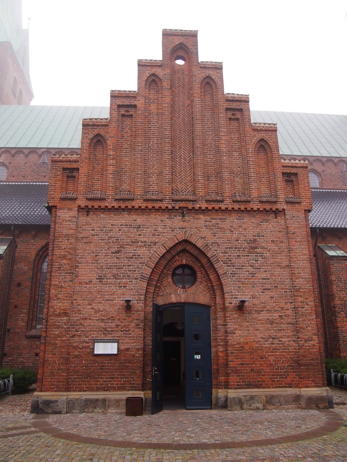 a brick church in helsingor