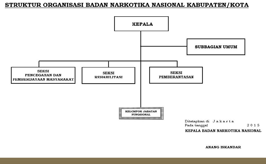 Struktur Organisasi Badan Narkotika Nasional Kab/Kota ...