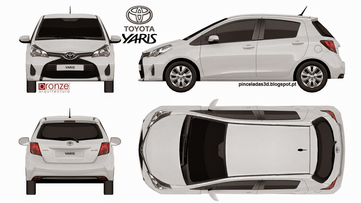 3d strokes stroke 120 toyota yaris and the photo blueprint of the final model malvernweather Image collections
