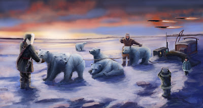 concept landscape artic future bears