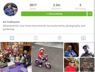 Akun Instagram Ani Yudhoyono Indonesia Terpopuler 2016