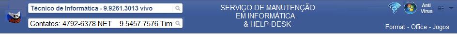 PCMOGI - Soluções em Informática - 4792-6378 net ou 99261-3013 vivo ou 95457-7576 tim - Marcelo