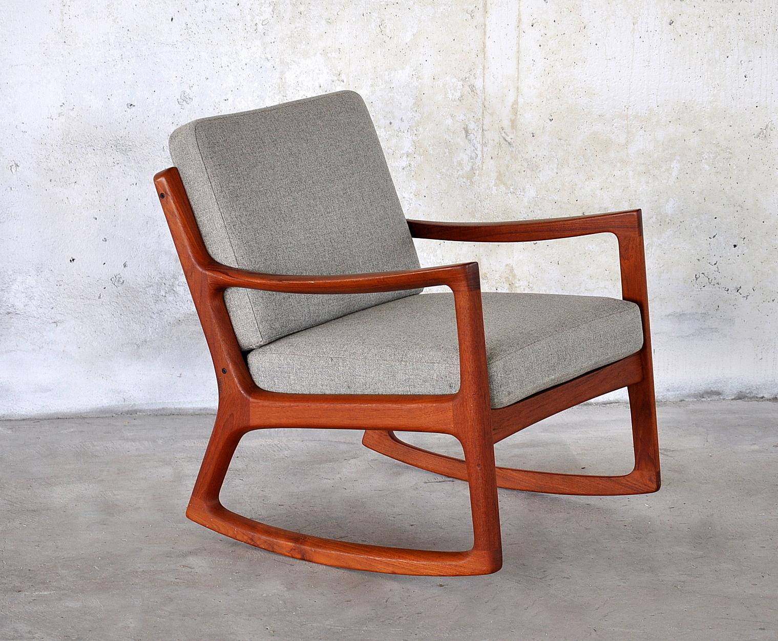 Select modern ole wanscher teak rocking chair - Rocking chair de jardin ...