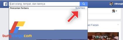 Cara Menghapus History Pencarian di Facebook