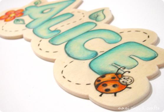 mami chips & crafts: Idea regalo per Santa Lucia: targa in legno con nome