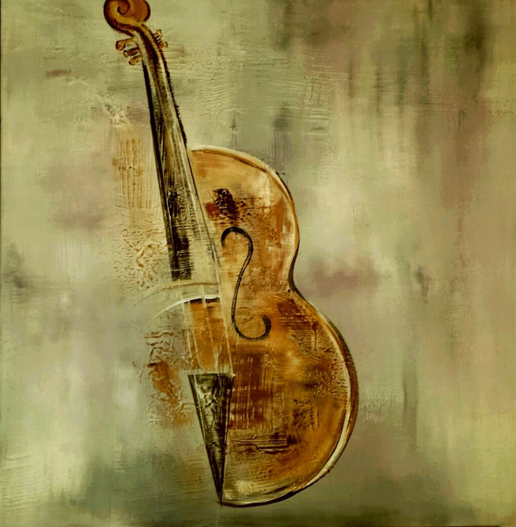 sylvie l artiste peintre montpellier le violon. Black Bedroom Furniture Sets. Home Design Ideas