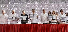 Firma Cecytev convenios de colaboración con universidades hidalguenses
