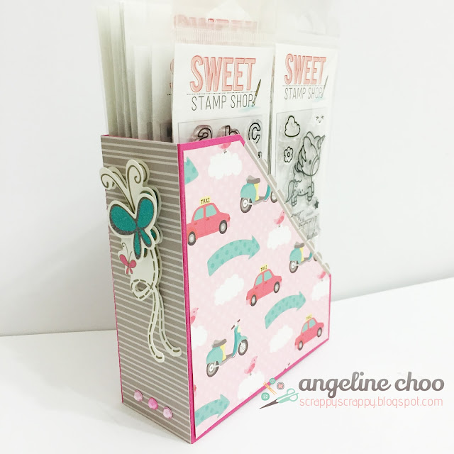 ScrappyScrappy: File folder box stamp storage #scrappyscrappy #thecuttingcafe #svg #cutfile #diecut #sweetstampshop #stampstorage #filefolder