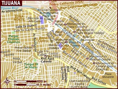 Mapa de Tijuana Político Región