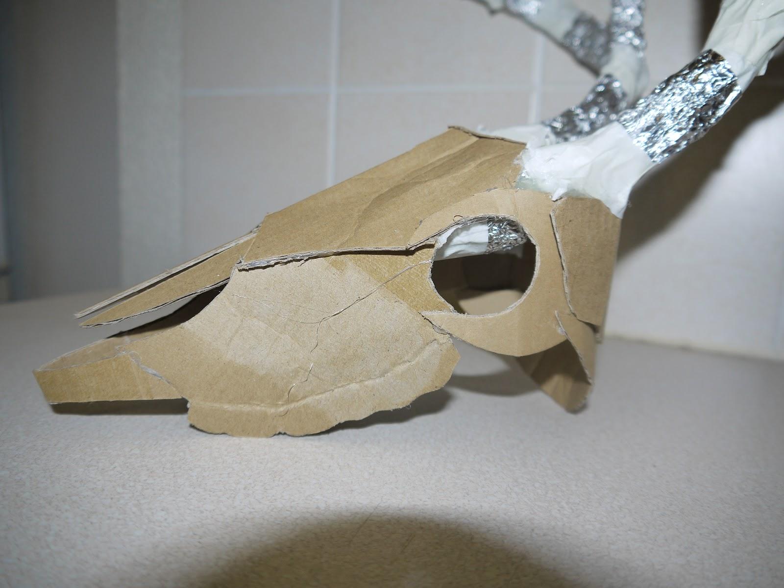 Complimentary Studies Sculptural Metals Cardboard Skull Research