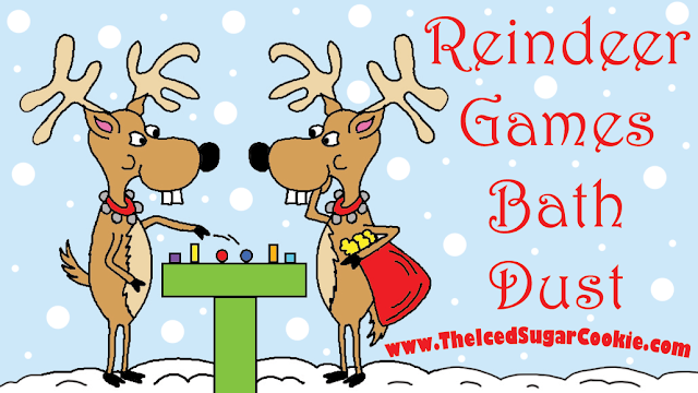 Reindeer Christmas Bath Salts, Bath Soaks, Bath Bombs, Bath Fizzies