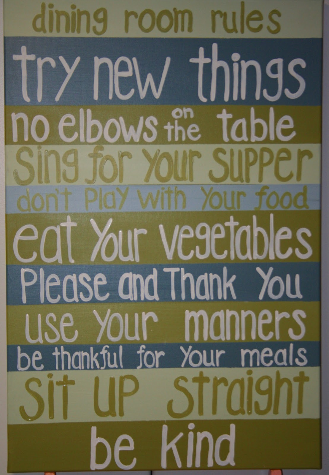 Dining Room Rules