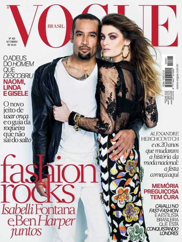 Revista Vogue Setembro 2013 Brasil Isabeli Fontana Ben Harper