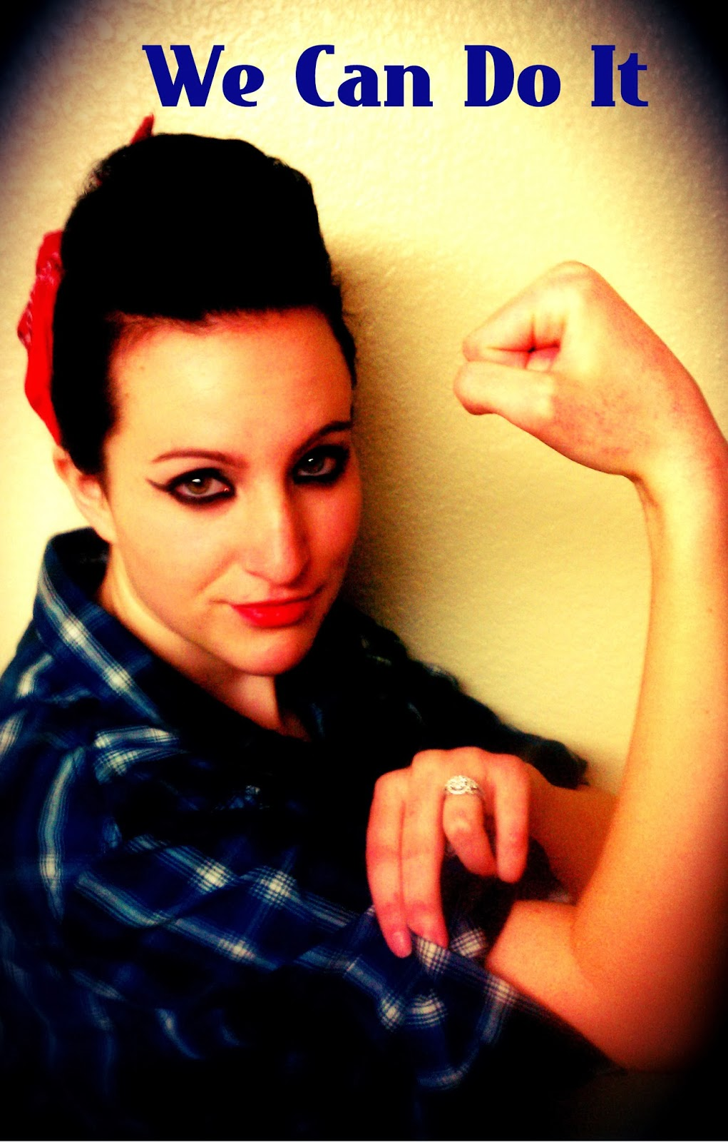 semi mohawk hairstyle : Polychrome: Rosie the Riveter Hairstyle