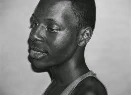 inspirational pencil drawing by Nigerian-British artist Kelvin Okafor