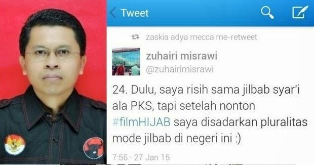@zuhairimisrawi: 'Saya risih sama jilbab syar'i ala PKS