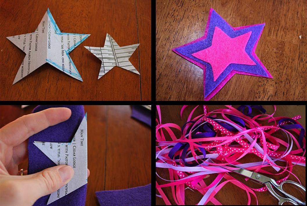 DIY Varitas de fieltro para una fiesta de princesas