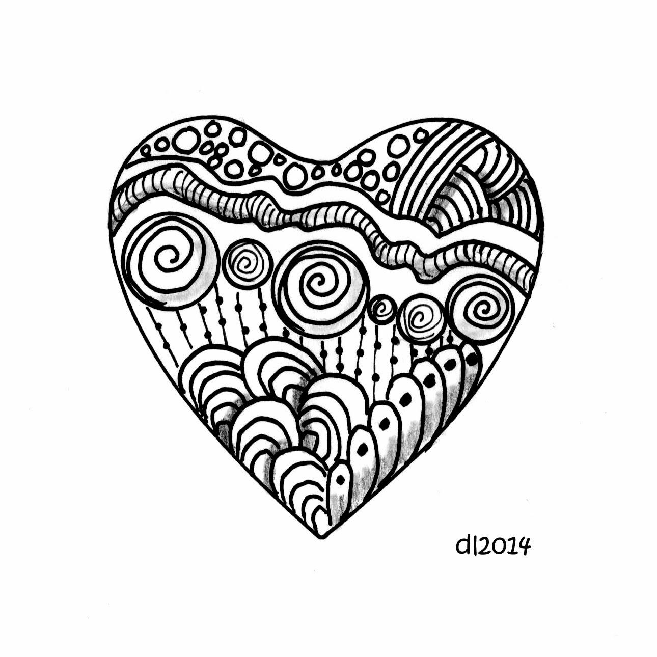 Bird On The Head Zendoodle Heart