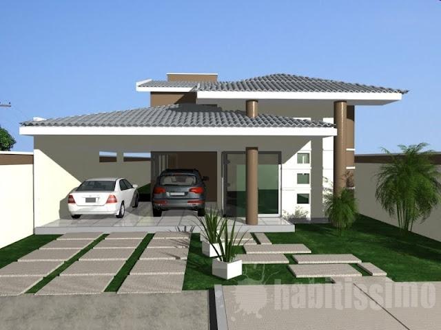Construindo minha casa clean fachadas com ou sem telhado for Casas modernas 4 aguas