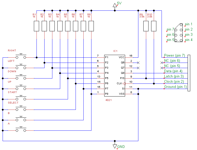 nes controller schematic nes free engine image for user manual
