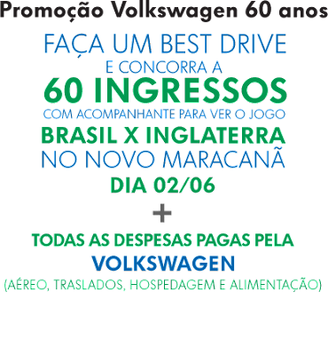 """""""Promoção Volkswagen 60 Caras de Sorte"""""""